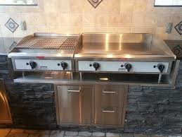 outdoor kitchen griddle awesome blackstone griddle outdoor kitchen outdoor ideas