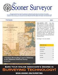 Surveying Taping The Sooner Surveyor 1st Quarter 2018 By The Sooner