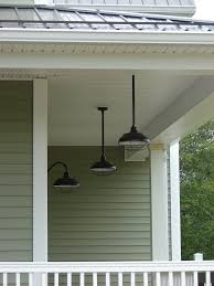 hanging porch lights. Three Barn Lights On A Porch Hanging H