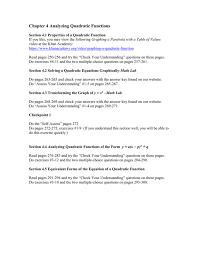 chapter 4 yzing quadratic functions