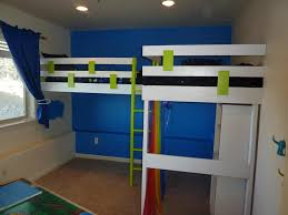 loft bed lighting. bedroom divine white wooden bunk beds design and blue wall painting color also ceiling lighting for kids with laminate floors decor loft bed