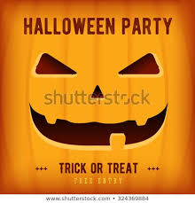 Halloween Party Design Template Pumpkin Place Stock Vector Royalty