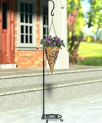 hanging plant stands outdoor metal hanging plant stand scroll cone hanging basket stand by panacea s hanging plant stands outdoor