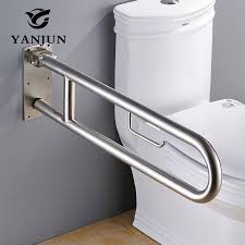 Best Bath Decor bathroom grab rails : YANJUN 304 Stainless Steel Folding Grab Bar Disability Grab Rail ...