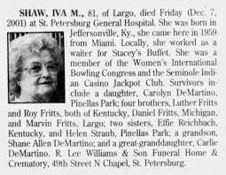 Obituary for IVA M. SHAW (Aged 81) - Newspapers.com