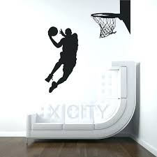 basketball  on koala baby silhouette tree wall art kit with basketball stencil kit easy court premium basketball court marking