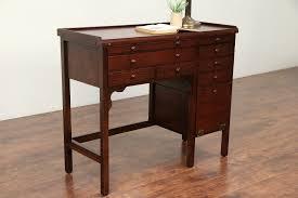 Oak Antique Watchmaker Desk Or Workbench Kitchen Island Wine Table