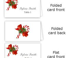 Table Number Cards Template Word