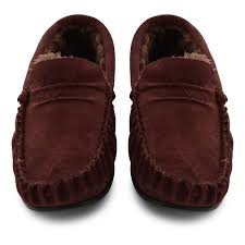 Mens Bedroom Slippers Leather Mens House Shoes Slippers National Sheriffs Association