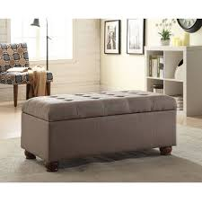 tufted  storage bench with turned legs dolphin gray  walmartcom