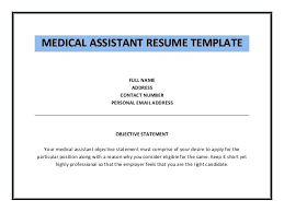 Medical Assistant Resume Objectives Resume Objectives For Medical Assistant 16