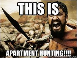 Image result for apartment hunting meme