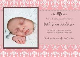 Baby Card Notes Personalised Birth Announcement Card And Thank You Notes By
