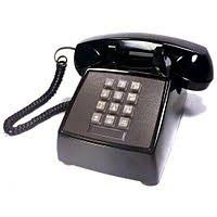 telephone at t push button telephone made by western electric model 2500 dmg black 1980
