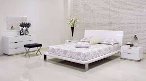 modern bedroom design ideas black and white. Gallery Of Bright White Modern Bedroom Design Inspiration With Rectangle Webbing Headboard And Nightstand Also Black Fluffy Rug Ideas