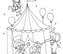 sizable circus coloring sheets clown pages for preschoolers