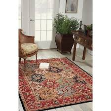 persian area rug modesto red green blue gold brown black 5 3 x 7