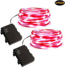 Candy Cane Lights 3 Pack Myhh Lites Rope Lights Battery Operated 16 5ft Candy Cane Striped Tube With 67 Cool White Leds Christmas Lights Waterproof With Timer Perfect For
