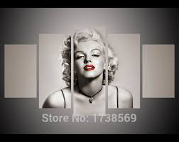 5 piece modern home decoration wall decor art picture for living room marilyn monroe canvas print