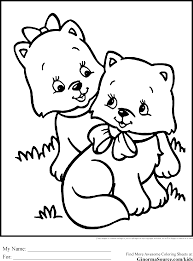 Cute Coloring Pages To Print Kittens