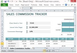 Sales Commissions Template Sales Commission Tracking Template For Microsoft Excel