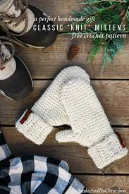 Mitten Pattern Stunning Classic KnitLooking Free Crochet Mitten Pattern Make Do Crew