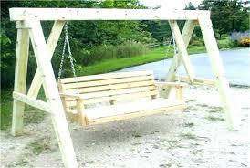 porch swing stand plans frame wooden outdoor garden free plan
