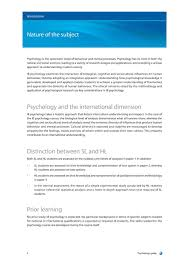 Introduction To Psychology Essay Ib Psychology Guide First Exam Simplebooklet Com