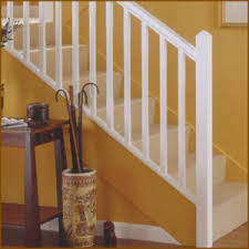 White primed stair balusters