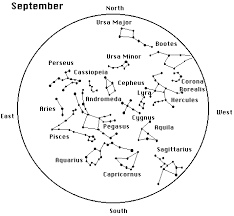 September Map The Unknown To Know Constellation Map