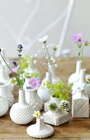 miniature glass vases love these milk minis and single blooms source centerpieces mini round miniature glass vases