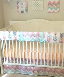 mint and c bedding peach gray and mint arrows crib bedding by c mint gold nursery bedding