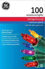 100 Count Mini Lights Ge 2 Pack Stringalong 100 Count Indoor Outdoor Bright Mini