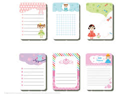 Notes Template Printable Cute Printable Notes For Little Princess Free Printable