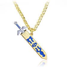 details about zelda necklace the legend of zelda 24 link chain removable master sword pendant