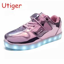 <b>Boys</b> girls <b>Led luminous Shoes Fashion</b> Light Up Casual <b>kids</b> 7 ...