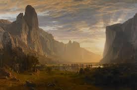 Looking Down Yosemite Valley, California