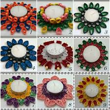 paper quilling candle holders car hanging wall hanging photo holders