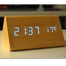 wooden digital clock wood led alarm clock calendar thermometer for control digital clock in alarm clocks wooden digital clock