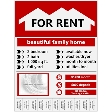 Example Of Flyers Flyer Example For Rent
