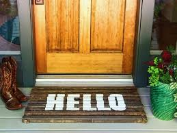 diy wood welcome mat