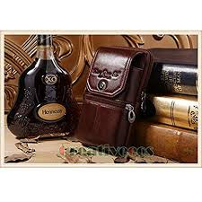 Moonnight Store New Men <b>Genuine Leather Vintage Travel</b> Cell ...