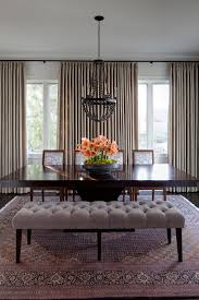 dining room table with upholstered bench. Upholstered Tufted Dining Room Bench And Black Table With 4 Chairs R