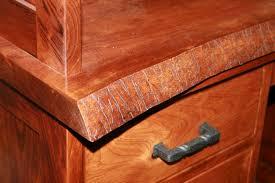live edge desk detail