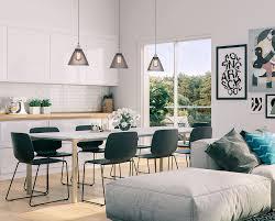 sun world modern scandinavian dining room decor