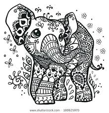 Adult Coloring Pages Elephant Coloring Pages Elephants Adult
