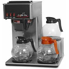 Industrial Coffee Makers Coffee Pro Cp3lb Low Profile Commercial Pour Over Brewer Stainless