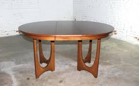mid century walnut dining table mid century modern round pedestal base dining table mid century modern
