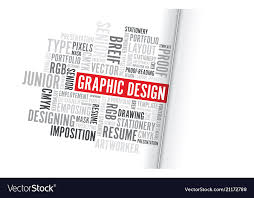 Word Background Template Graphic Design Word Background Vector Image On Vectorstock