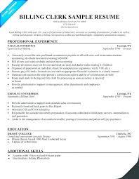 Resume Template Medical Billing Resume Sample Free Career Resume